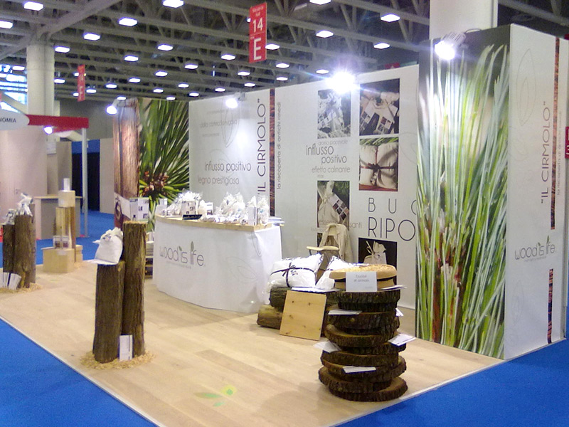 Super Allestimento stand fiera Wood is Life - AG Communication LC19